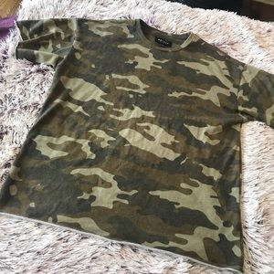 Pacsun camo yeezy inspired top